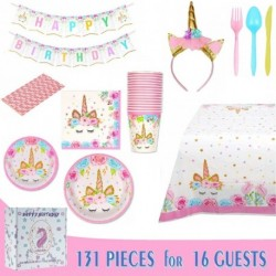 Unicorn Birthday Party Tableware Kit